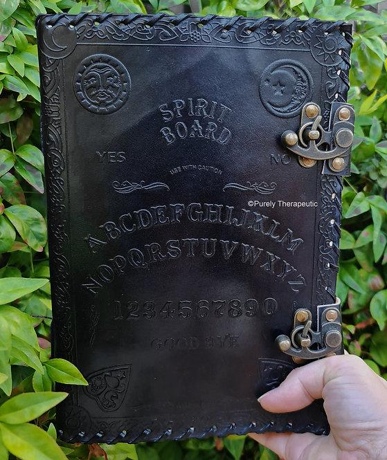 Ouija Spirit Board Leather Journal