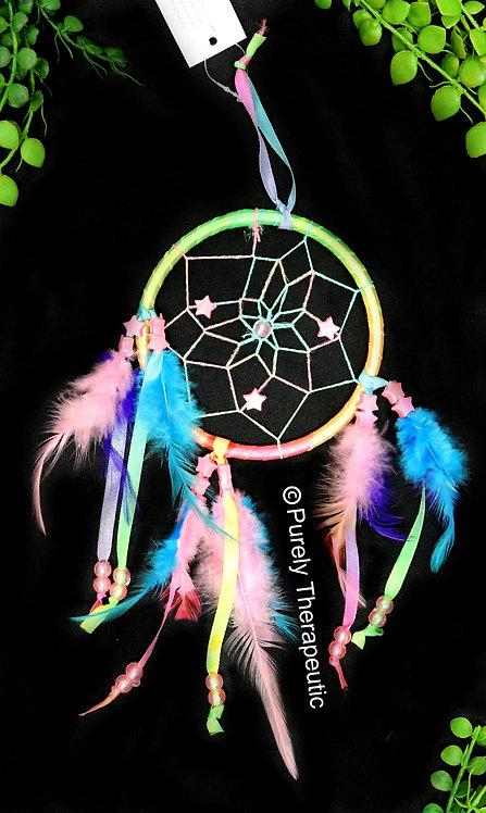 Rainbow Web Star Dream Catcher