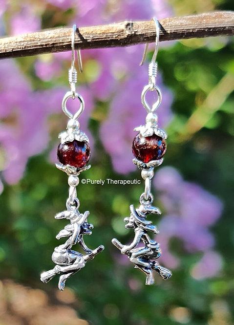 Witch Garnet Earrings