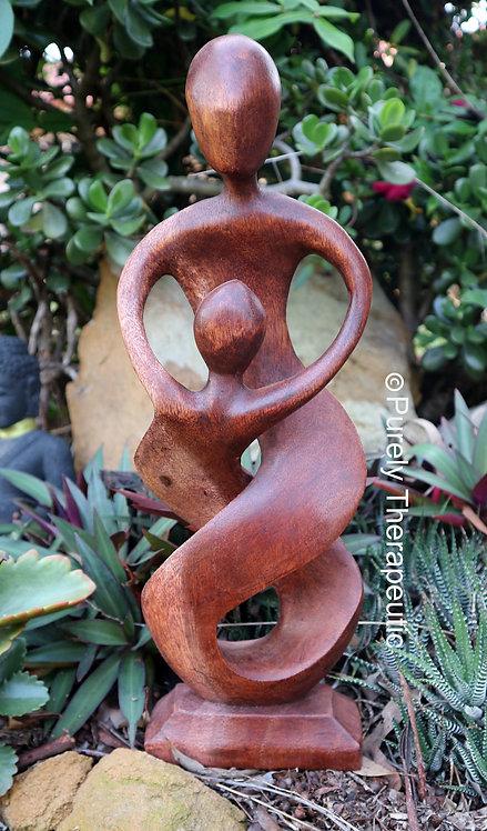 Wooden statue figurine Balinese