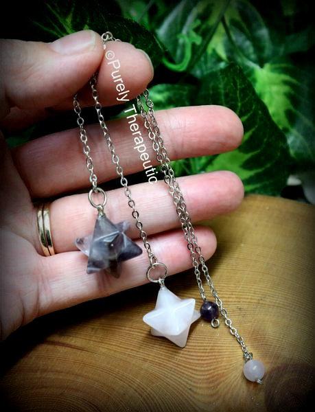 Merkaba Gemstone Crystal Pendulum