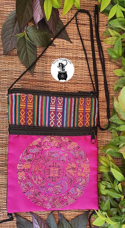 Pink Boho Hippy Shoulder Bag