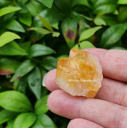 Raw Citrine Crystal Twin Point Gemstone