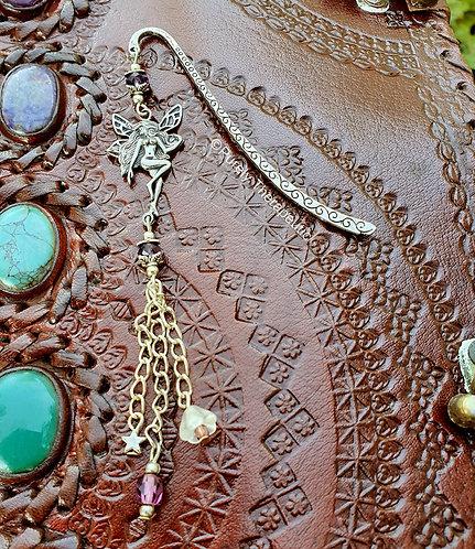 Fairy Bookmark Page Marker Purple