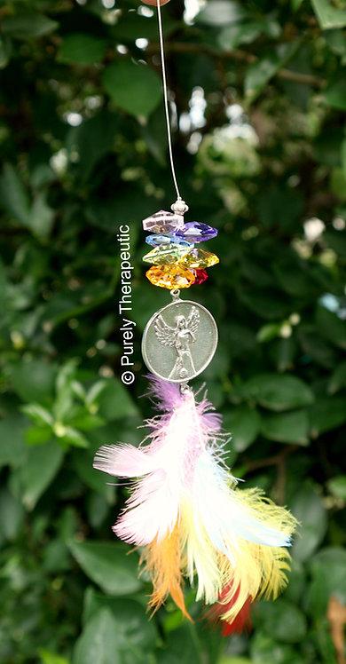 Rainbow Guardian Angel Suncatcher