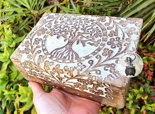 Tree of Life handcarved altar box