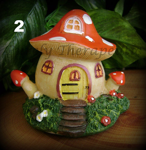 orange toadstool house
