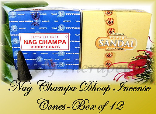 2x Boxes Nag Champa Dhoop Incense Cones