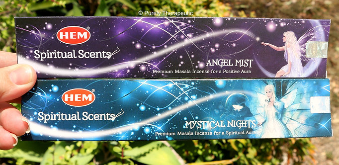 Spiritual Scents Incense Sticks Angel Mist & Mystical Nights Hem