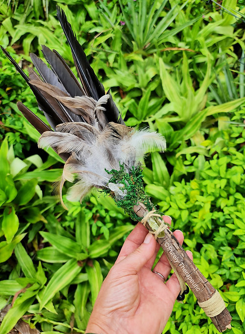 Natural Smudging Feather Fan