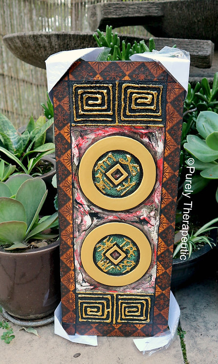 Double Feng Shui Coin Wall Hanging Canvas