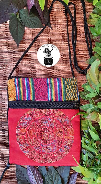 Red Chakra Shoulder Mandala Bag