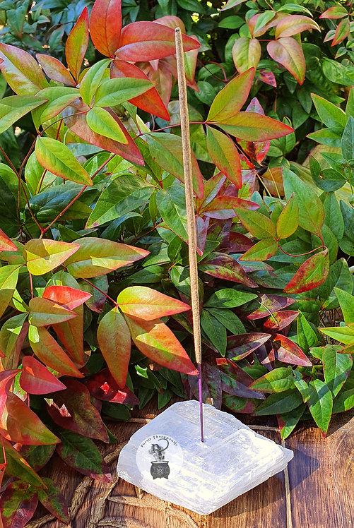 Selenite Gemstone Incense Holder