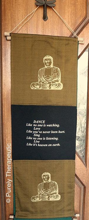 Inspirational Wall Scroll Buddha