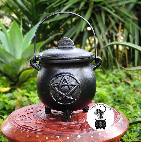 Cast Iron Black Witches Cauldron