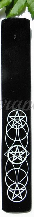 Pentagram Black Incense Holder