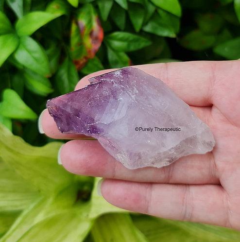 Raw Amethyst Crystal Gemstone Point