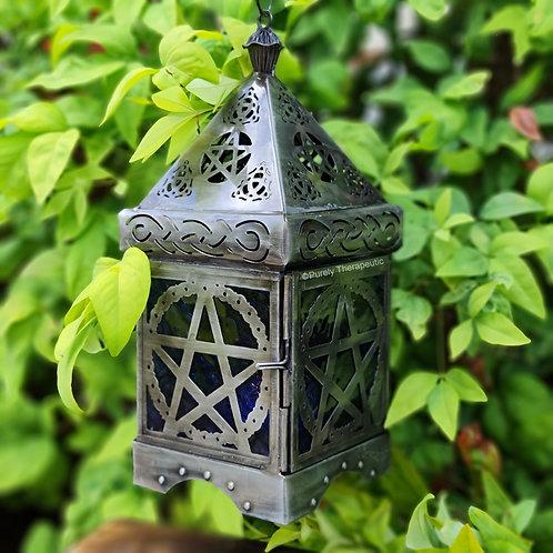 Pentacle tealight candle holder lantern
