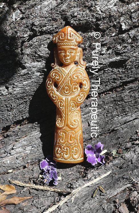 Jade Goddess Amulet Pendant