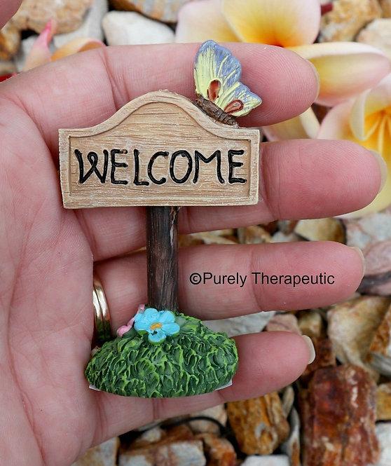 'Welcome' Miniature Garden Sign