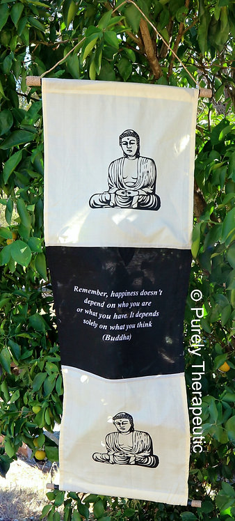 Buddha Inspirational Quote Wall Scroll Flag