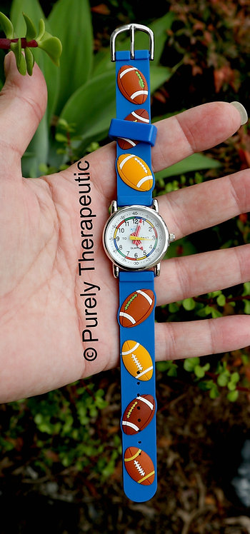 Learn to tell the time soccer watch