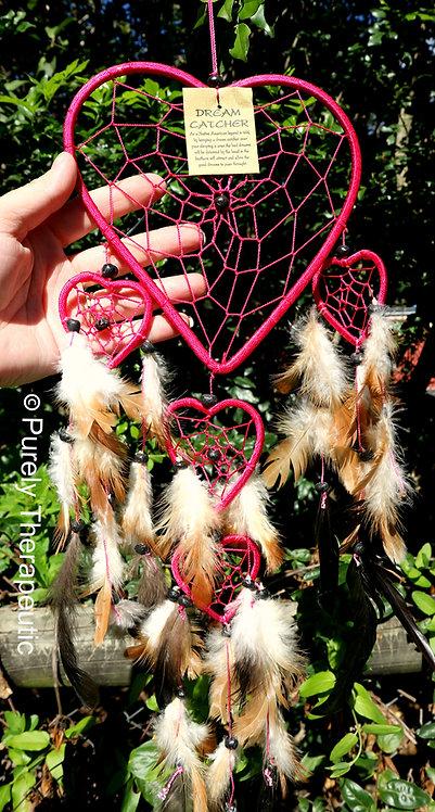Love Heart Pink Dream Catcher