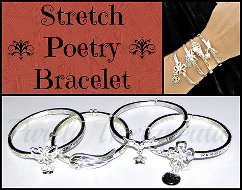 Decorative Positive Poetry Word Bracelet
