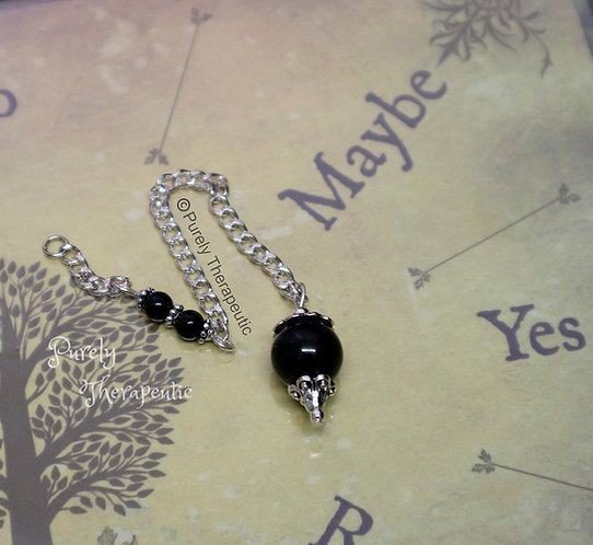 Purely Therapeutic Black Agate Pendulum