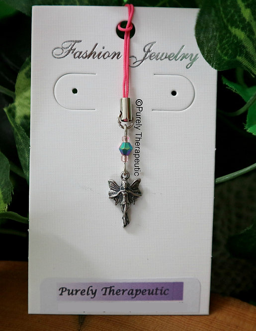 Fairy Mobile Phone Charm Pink