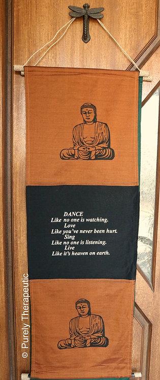 Buddha Inspirational Wall Hanging