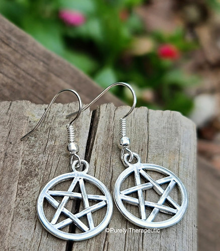 Pentagram Earrings handmade by Purely Therapeutic