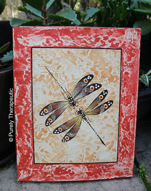 Twin_Dragonfly_Handpainted_Canvas_Wall_Hanging
