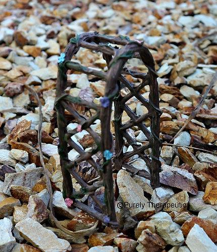 Miniature Garden Flower Arch Figurine
