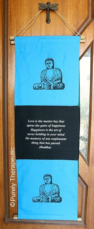 Buddha Love Quote Wall Scroll