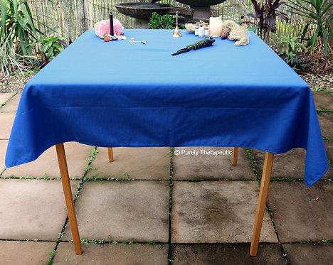 Altar Tarot Table Cover Blue