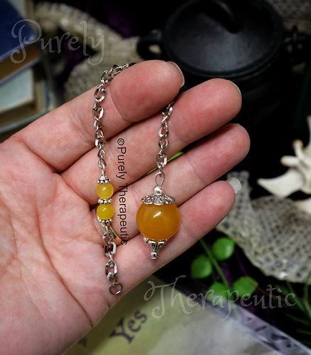 Orange Jade Pendulum