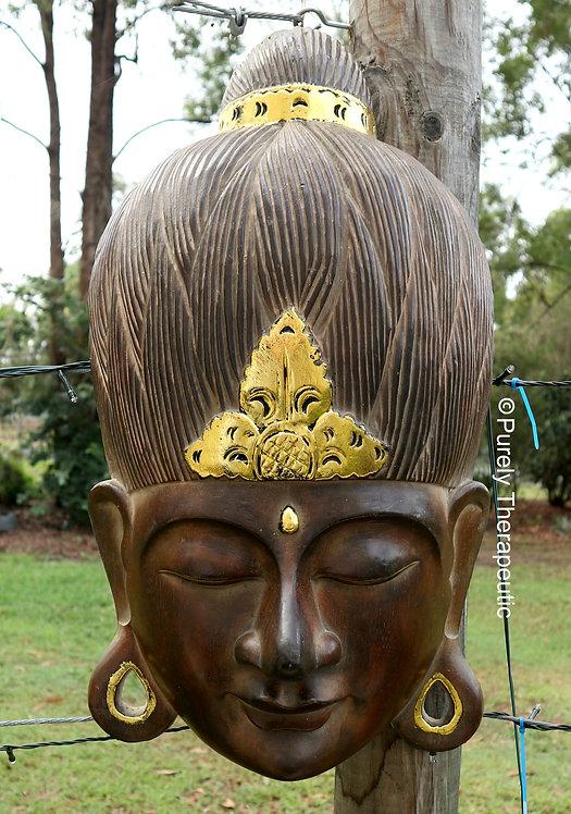Balinese Wooden Handcarved Buddha Head