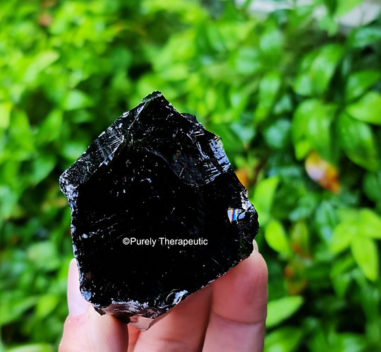 Black Obsidian Raw Gemstone Crystal