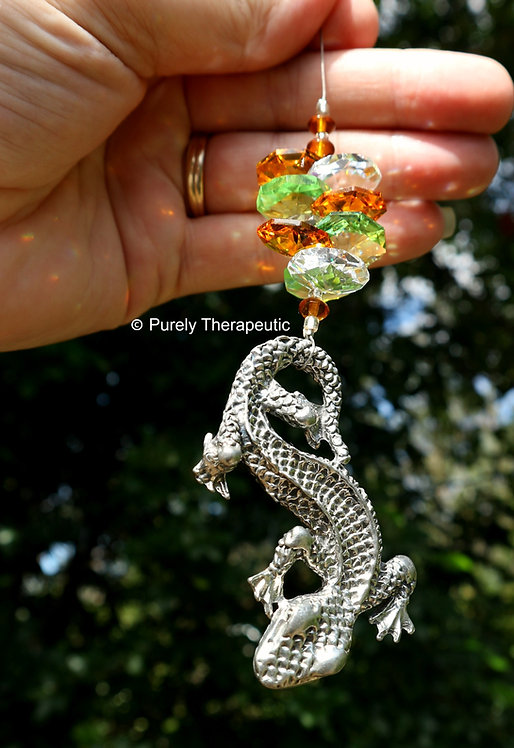 Gecko Sun Catcher Autumn