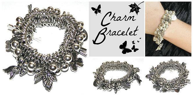 Charm Bead Stretch Bracelet