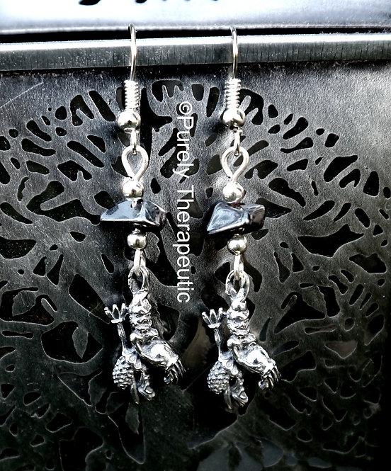 Aquarius Zodiac Star Sign Earrings