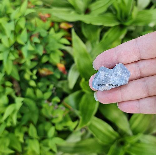 Blue Calcite Gemstone Raw Crystal