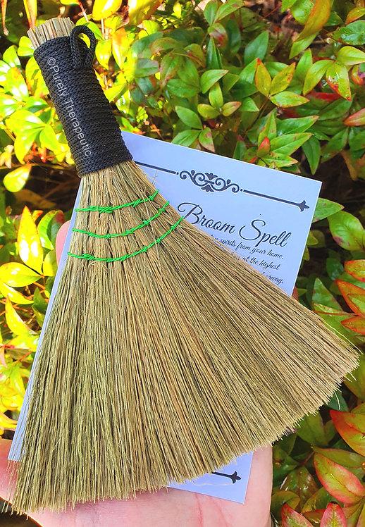 Smudging Cleansing Heather Besom Broom~Black