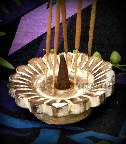 Wooden Incense Cone Holder Burner