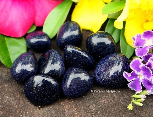 Blue Goldstone Gemstone Crystal