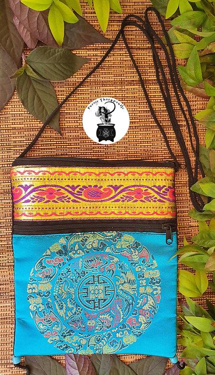 Aqua Teal Turquoise Hippy Boho Spell Bag