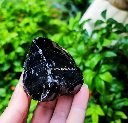 Black Obsidian Raw Gemstone Crystal