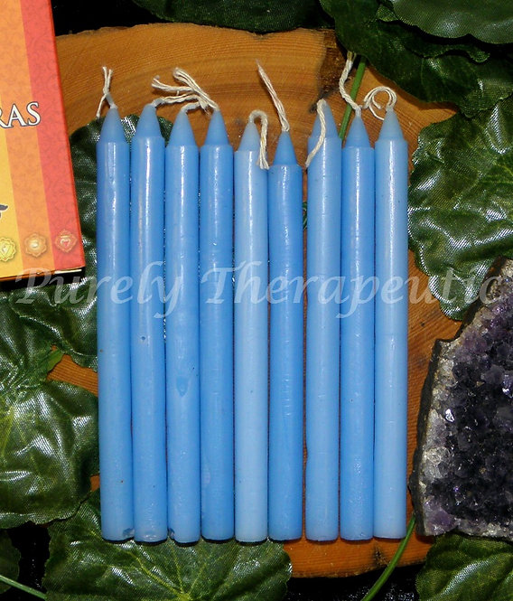 Set of 9 Blue Wish Spell Ritual Candles