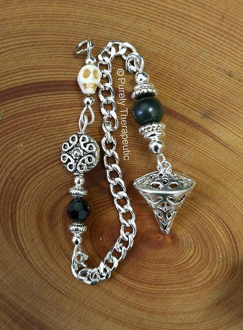 Gothic Skull Handmade Pendulum